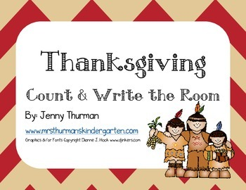Thanksgiving Count and Write the Room