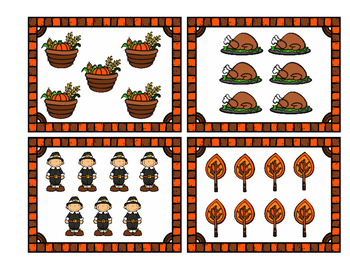 Thanksgiving Count the Room 1-20 / November Math Center