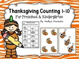 Thanksgiving Counting 1-10 For Preschool And Kindergarten