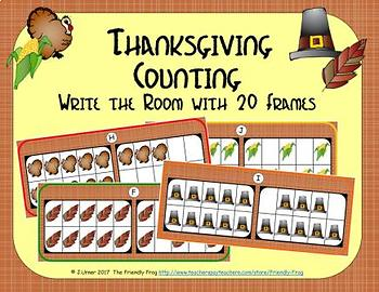 Thanksgiving Counting with 20 Frames {Subitizing}