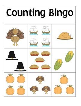 Thanksgiving Counting Bingo