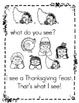 "Thanksgiving Counting Book: Sight word ""see"" & #s (Pre-K, TK, K, Sp Ed & Gen Ed)"