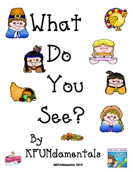 """Thanksgiving Counting Book: Sight word """"see"""" & #s (Pre-K, TK, K, Sp Ed & Gen Ed)"""