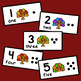 Thanksgiving Counting Cards - Set of 10