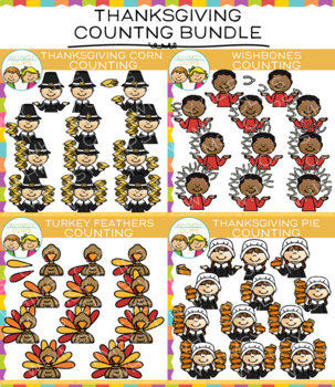 Thanksgiving Counting Clip Art Bundle