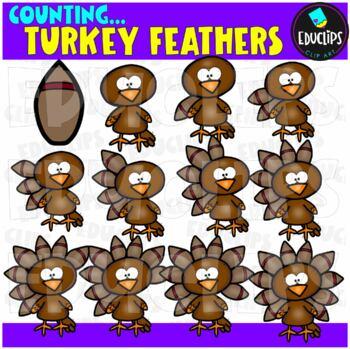 Thanksgiving Counting Clip Art Big Bundle {Educlips Clipart}