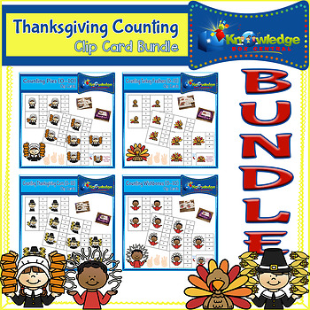 Thanksgiving Counting Clip Cards BUNDLE