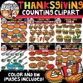 Thanksgiving Counting Clipart Bundle {Thanksgiving Clipart}