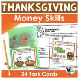 Thanksgiving Money Skills Task Cards