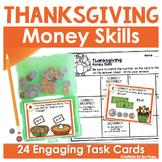Thanksgiving Money Task Cards