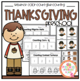 Thanksgiving Counting Color-Cut-Glue Sequencing