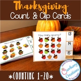 Thanksgiving Counting Interactive Task Cards Center