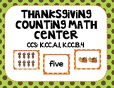 Thanksgiving Counting Math Center
