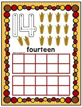 Thanksgiving Play Dough Counting Mats 0-10