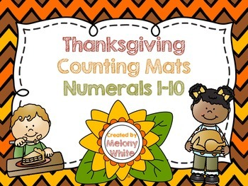 Thanksgiving Counting Mats Numerals 1-10