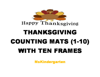 Thanksgiving Counting Mats (With Ten Frames)
