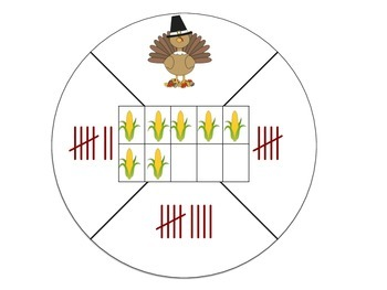 Thanksgiving Counting Mats with Ten Frames
