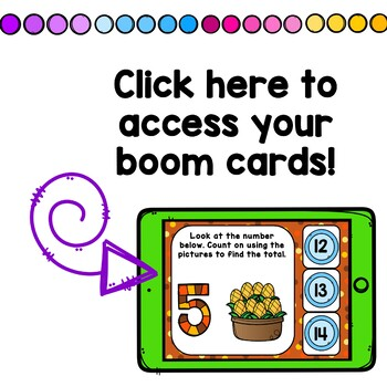 Thanksgiving Counting On Addition Digital Game Boom Cards