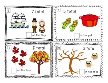 Thanksgiving: Counting On Task Cards