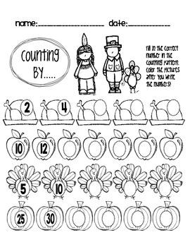 Thanksgiving Counting Patterns [FREEBIE!]