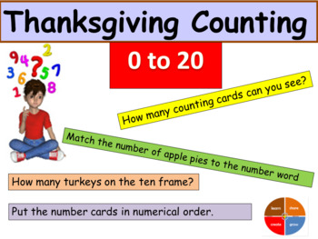 Thanksgiving Counting - Presentation, Room visuals, Activi