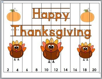 Thanksgiving Math Number Puzzles