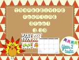 Thanksgiving Counting Scoot 1-12 {year2tastic}