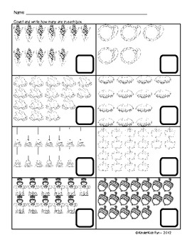 Thanksgiving Counting Sheet (up to 20 objects) - K.CC.3