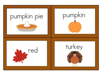 Thanksgiving Counting Syllables Center