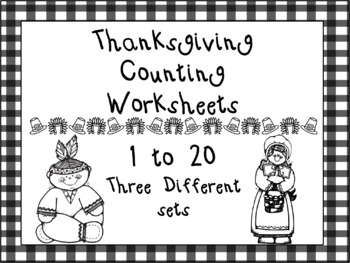 Thanksgiving Counting Worksheets1 to 20