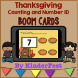 Thanksgiving Counting and Number Identification Boom Cards