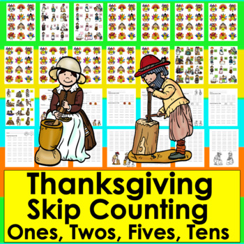 Thanksgiving Counting and Skip Counting Activities for Thanksgiving Math