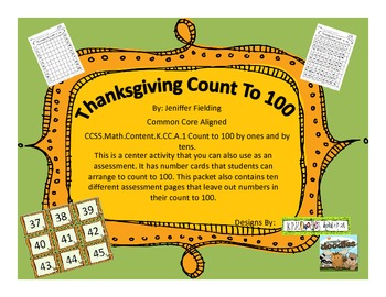Thanksgiving Counting to 100 Center