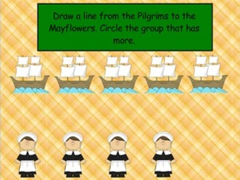 Thanksgiving - Counting with 1 to 1 Correspondence - Mimio
