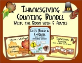 Thanksgiving Counting with 5 Frames Bundle {Subitizing}