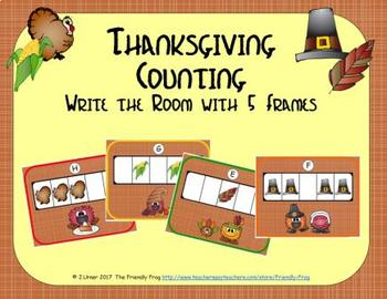 Thanksgiving Counting with 5 Frames {Subitizing}