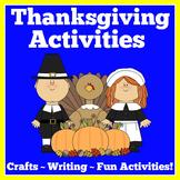Thanksgiving Craft Activities BUNDLE
