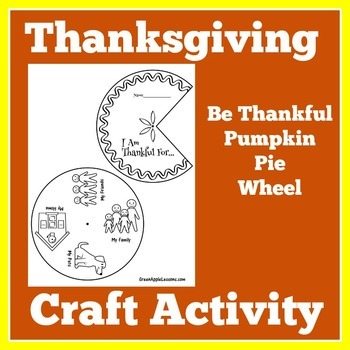 Thanksgiving Craft | Thanksgiving Activity | Thanksgiving Craftivity