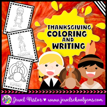 Thanksgiving Coloring and Writing Worksheets