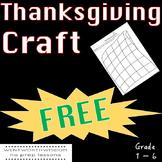 Thanksgiving Craft Free Thanksgiving Activity Thanksgiving