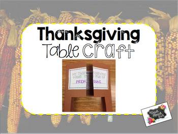 Thanksgiving Table Craft