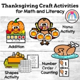 Thanksgiving Craft Activities: Math, Literacy (Name, Shape