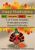 Thanksgiving Craft Activities - Pre-k, Kinder, Grades 1 &