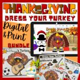 Thanksgiving Craft / Activity Bundle - Dress Your Turkey Print & Digital