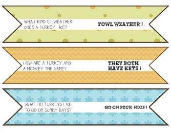 Thanksgiving Craft Activity: Thanksgiving Joke Popsicle Pennants!