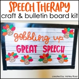 Thanksgiving Craft & Bulletin Board Kit - Speech Therapy