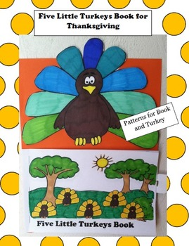 Thanksgiving Craft -Five Little Turkeys Book for students to make