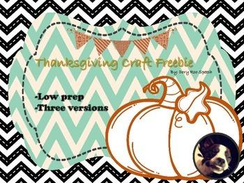 Thanksgiving Craft {Freebie}