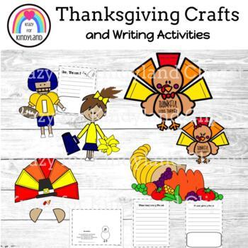 Thanksgiving Craft Pack 2: Turkey, Poem, Photo Turkey, Cornucopia, Football