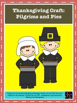 Thanksgiving Craft: Pilgrims and Pies